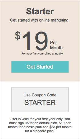 Get started with Boutique Window for just $19 per month.